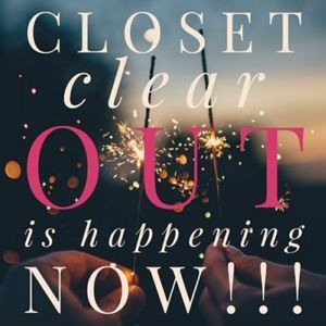 CLOSET CLEAR OUT!!🎉🎉